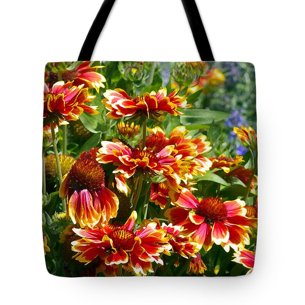 Blanket Flowers Tote Bag by Sharon Talson