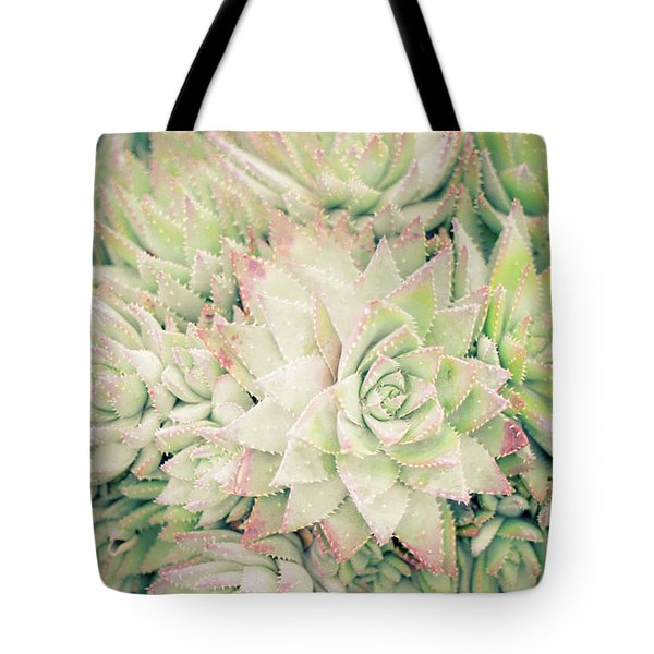 Tote Bag featuring the photograph Blanket Of Succulents by Ana V Ramirez