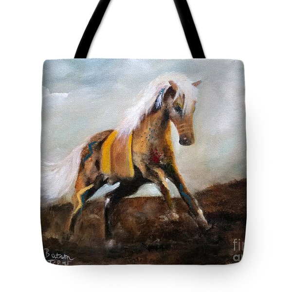 Blanket The War Pony Tote Bag by Barbie Batson