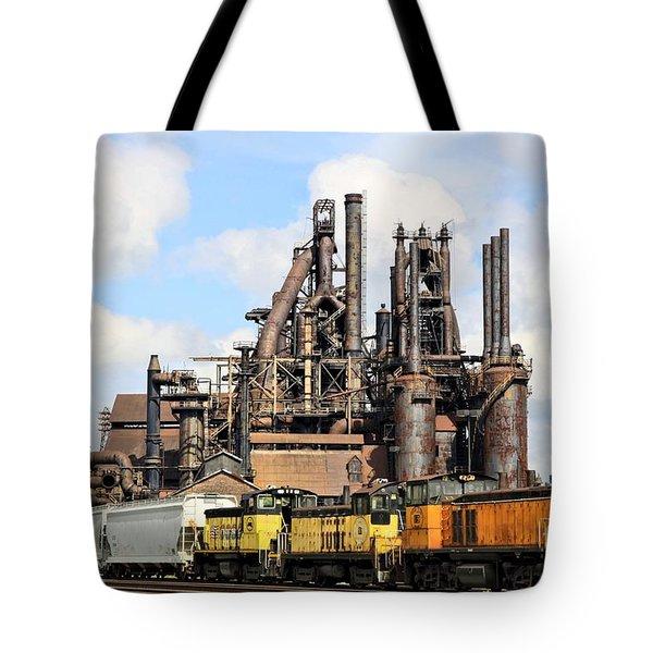 Blast Furnace A - Bethlehem Pa Tote Bag by DJ Florek