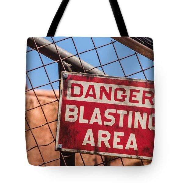Blasting Area Tote Bag