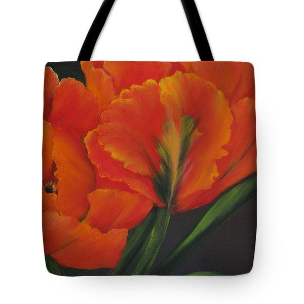 Blaze Of Glory Tote Bag by Carol Sweetwood