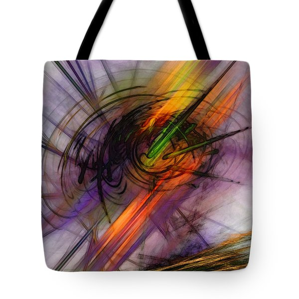 Blazing Abstract Art Tote Bag