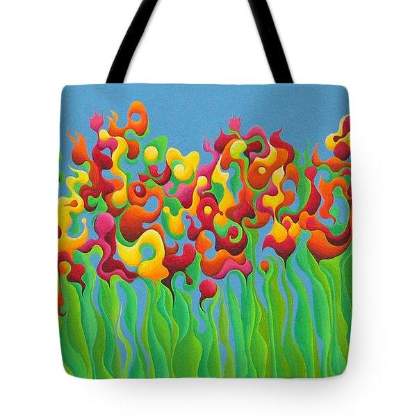 Blazing Blossom Bash Tote Bag