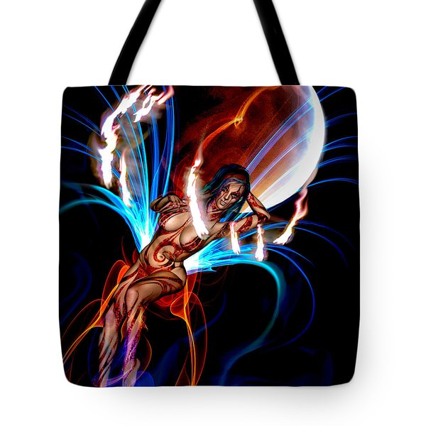 Tote Bag featuring the photograph Blazing Eclipse by Glenn Feron