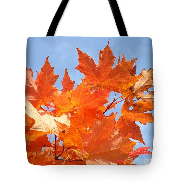 Blazing Maple Tote Bag
