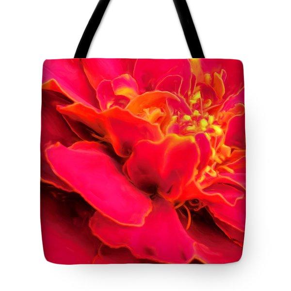 Blazing Pink Marigold Tote Bag