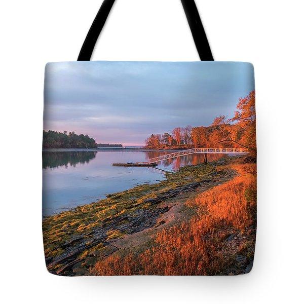 Blazing Shore Tote Bag