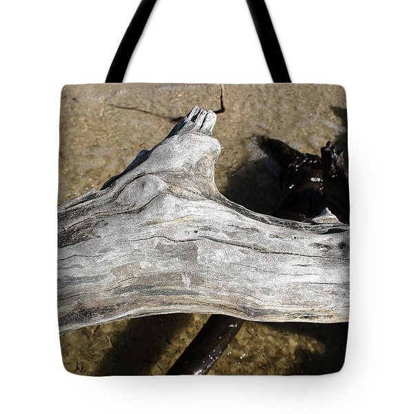 Bleached Driftwood Tote Bag by Mary Haber