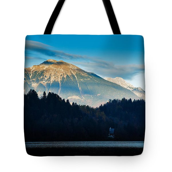 Tote Bag featuring the photograph Bled Castle by Ian Middleton