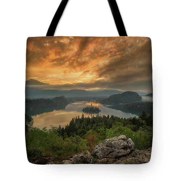 Bled On Fire Tote Bag