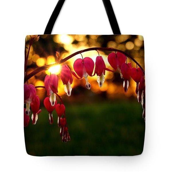 Bleeding Heart Sunset Tote Bag