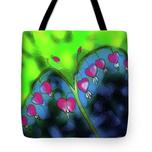 Bleeding Hearts Tote Bag by Latha Gokuldas Panicker