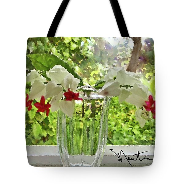 Bleeding Hearts Painted Rocks Tote Bag
