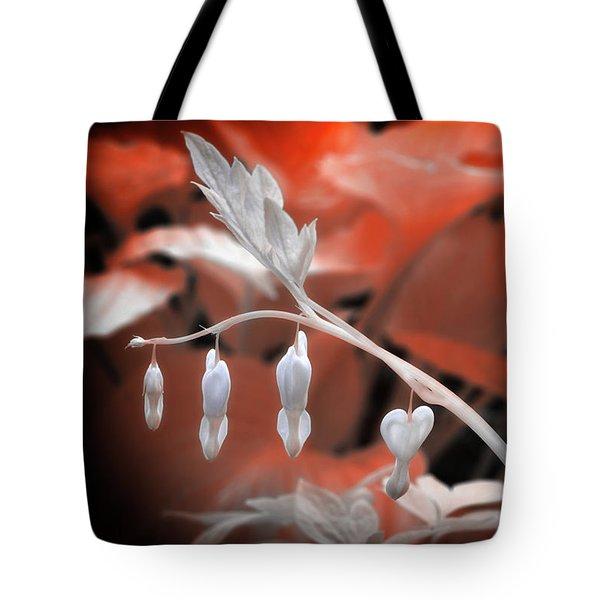 Bleeding Hearts Tote Bag by Paul Seymour