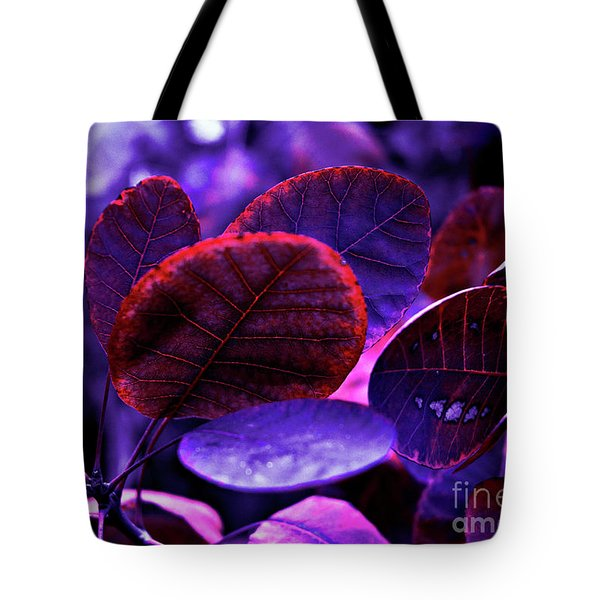 Bleeding Violet Smoke Bush Leaves - Pantone Violet Ec Tote Bag