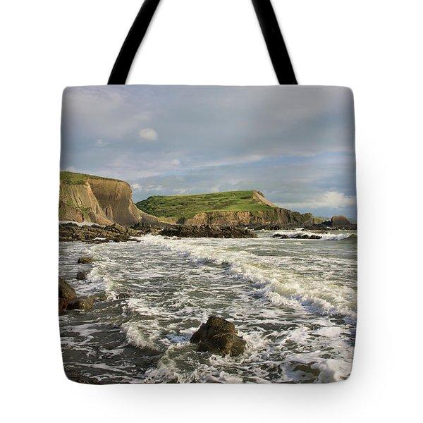 Blegberry Beach In North Devon Tote Bag