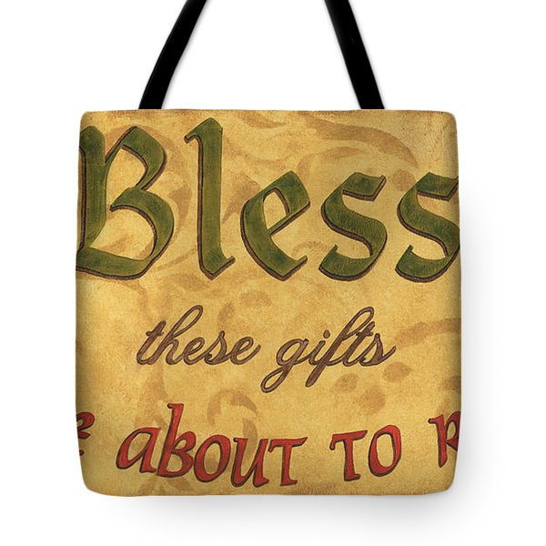 Bless These Gifts Tote Bag