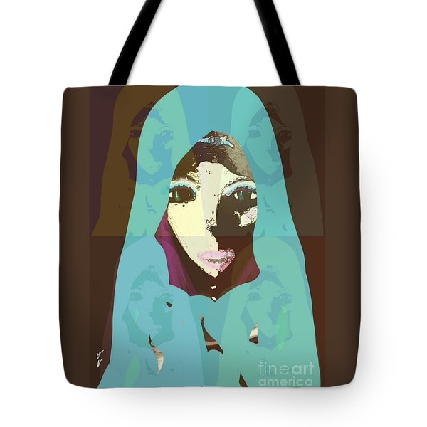 Tote Bag featuring the mixed media Blessed 2 by Ann Calvo