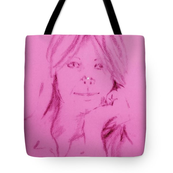 Tote Bag featuring the drawing Blessed Are They by Denise Fulmer
