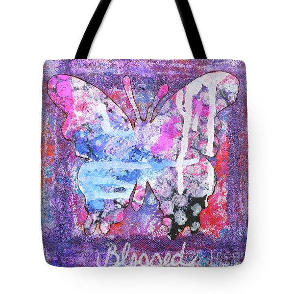 Blessed Butterfly Tote Bag