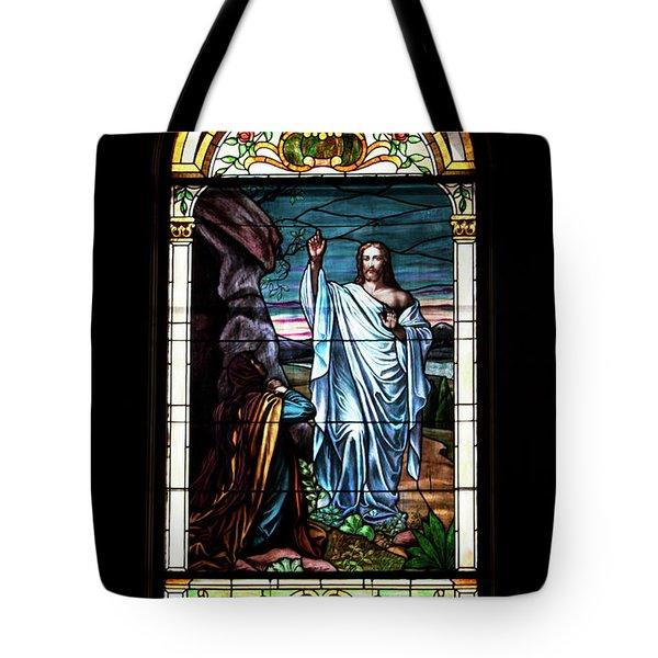 Blessed By Jesus Tote Bag