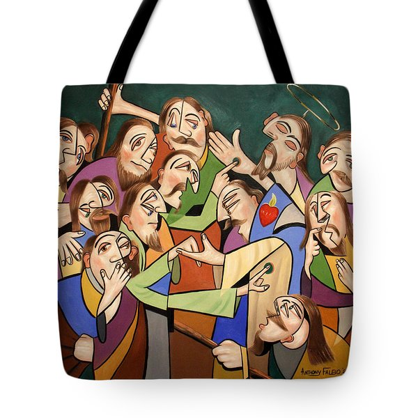 Blessed Is He Who Believes Without Seeing Tote Bag by Anthony Falbo