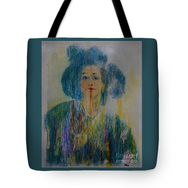 Tote Bag featuring the painting Bleu Femme Fatal by Roberto Prusso