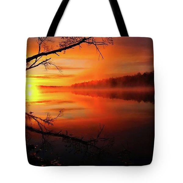Blind River Sunrise Tote Bag