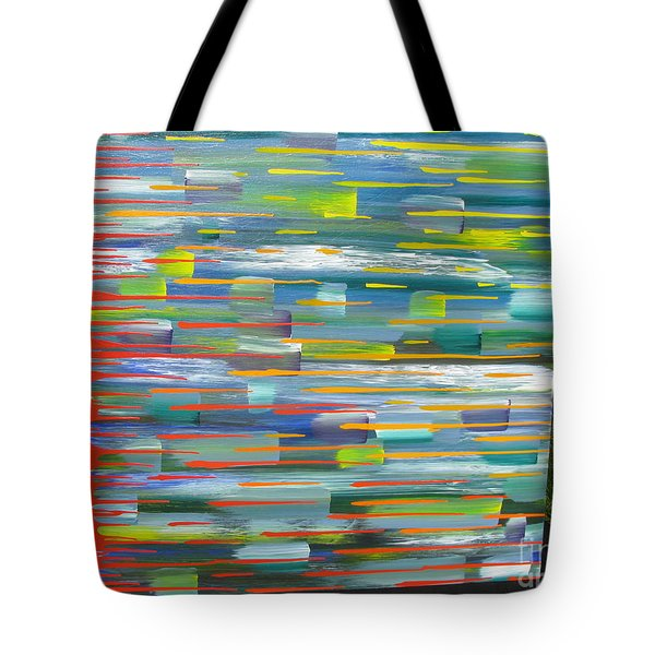 Tote Bag featuring the painting Blindsided by Jacqueline Athmann