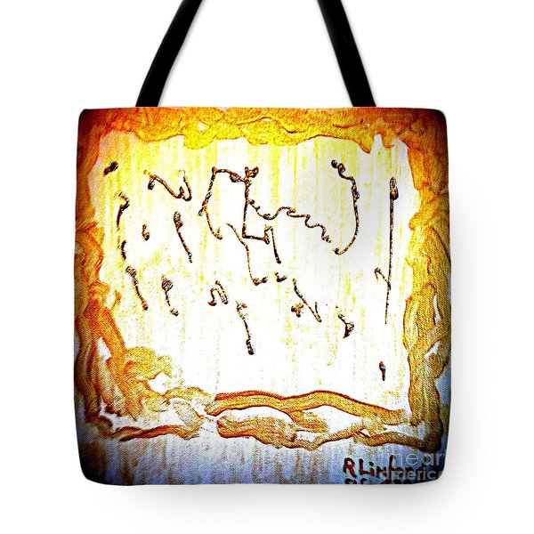 Bling Abstract Gold 2 Tote Bag by Richard W Linford