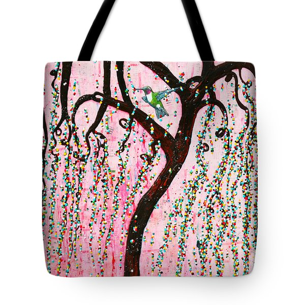 Tote Bag featuring the mixed media Blissful Melody by Natalie Briney