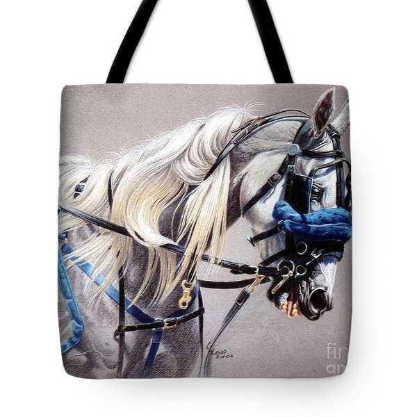 Blizzard Babe Tote Bag by Carrie L Lewis
