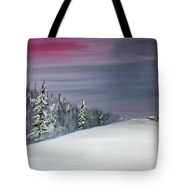 Blizzard Coming Tote Bag by Jack G  Brauer