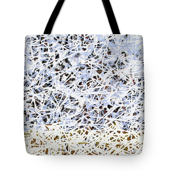 Tote Bag featuring the digital art Blizzard Homage To Jackson by Walter Fahmy