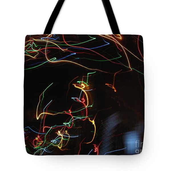 Tote Bag featuring the photograph Blizzard Of Colorful Lights. Dancing Lights Series by Ausra Huntington nee Paulauskaite