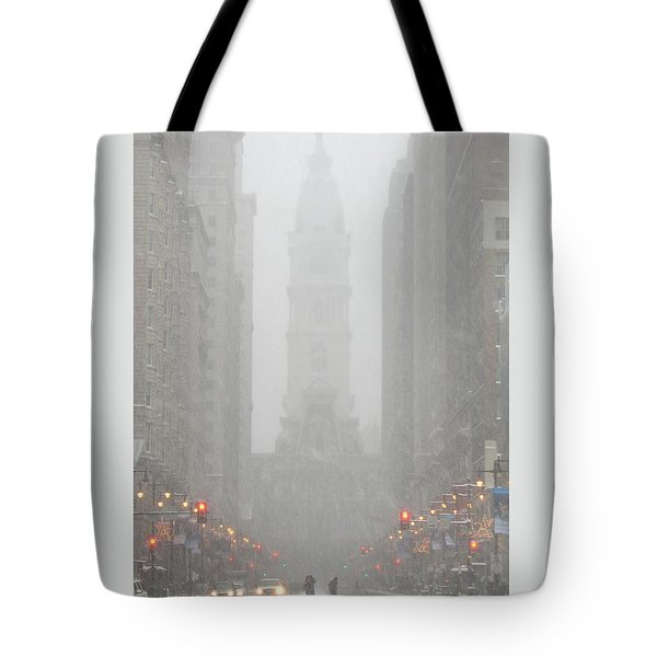 Snow In The City Tote Bag by Christopher Woods