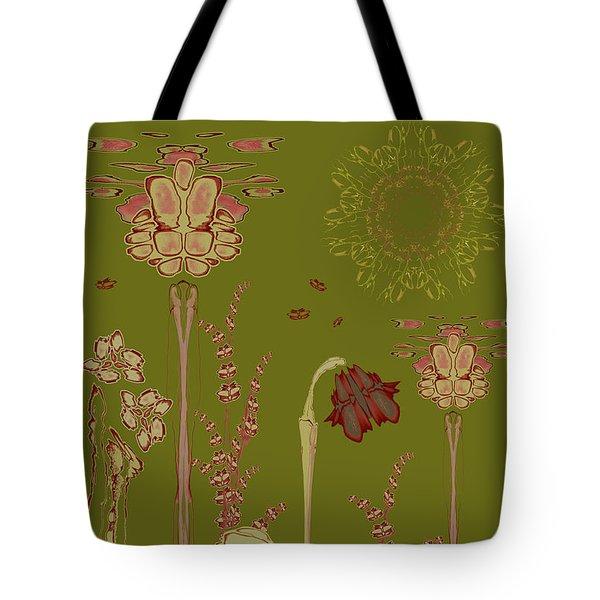 Blob Flower Garden Tote Bag