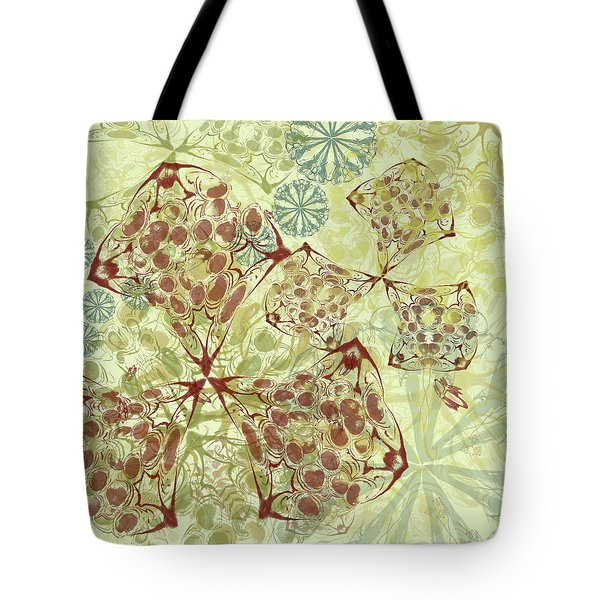 Blob Flower Painting #1 Pale Yellow Tote Bag