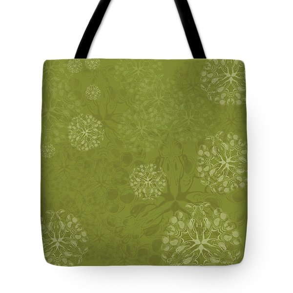 Blob Flower Painting #2 Yellow Green Tote Bag