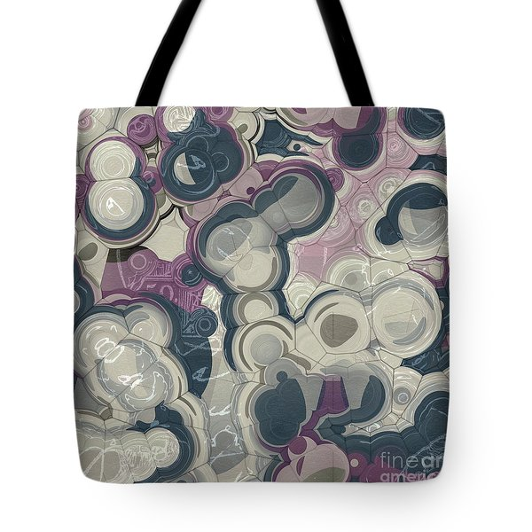 Tote Bag featuring the digital art Blobs - 01c01 by Variance Collections