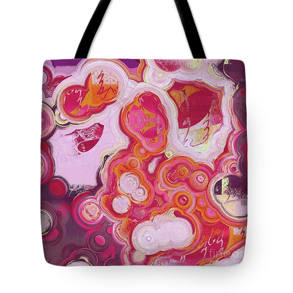 Tote Bag featuring the digital art Blobs - 03v2c7b by Variance Collections