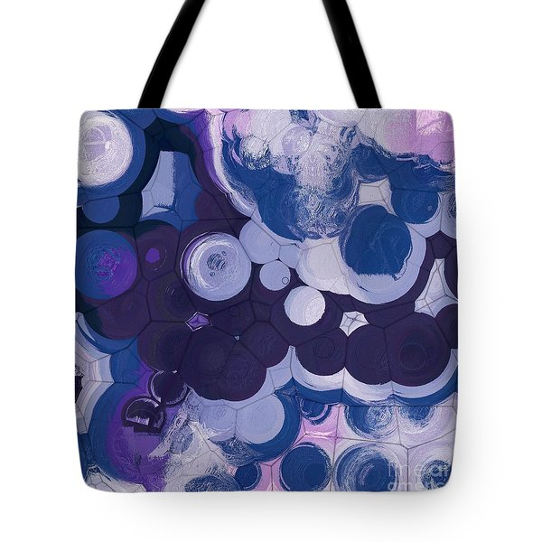 Tote Bag featuring the digital art Blobs - 11c2b by Variance Collections