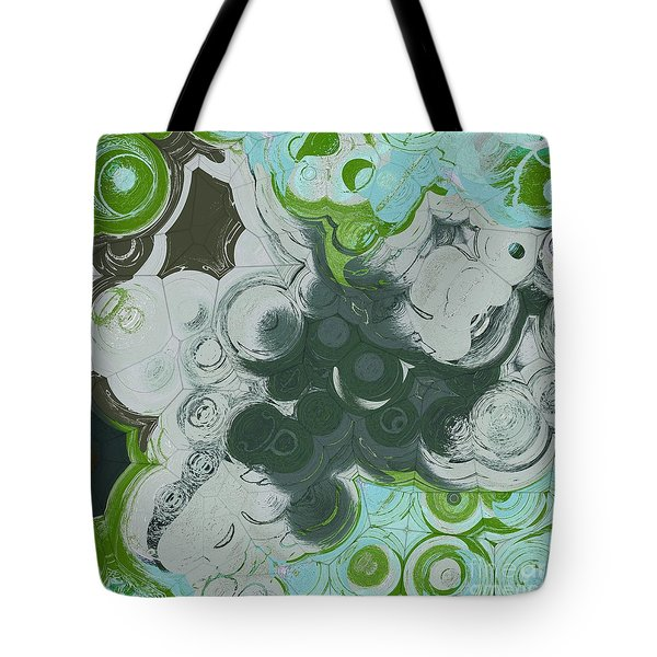 Tote Bag featuring the digital art Blobs - 13c9b by Variance Collections