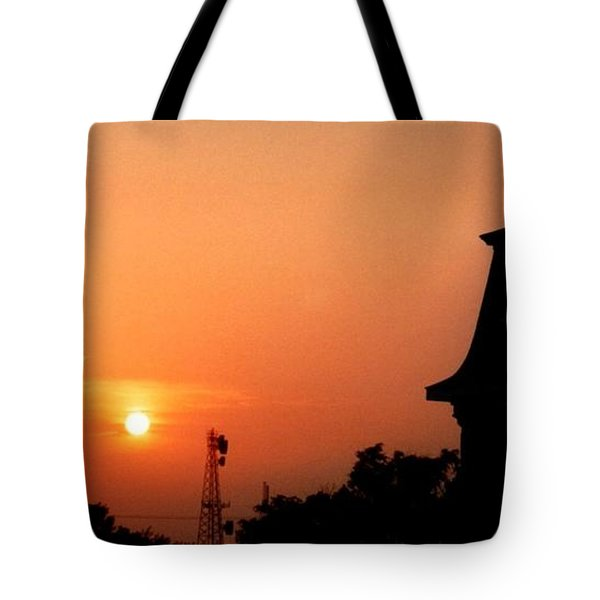 Block Island Sunset Tote Bag