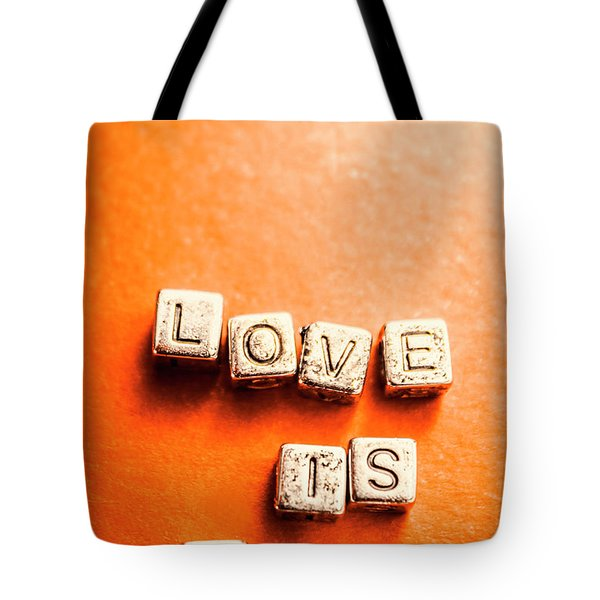 Block Quotes On Love Is All  Tote Bag