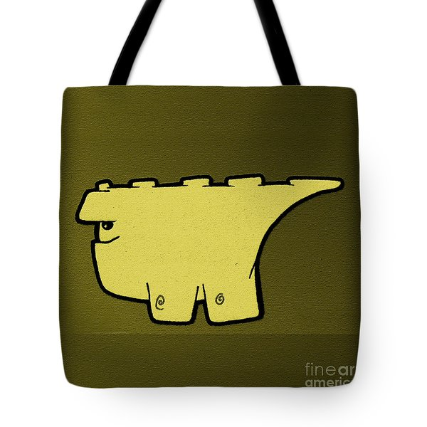 Blockasaurus Tote Bag