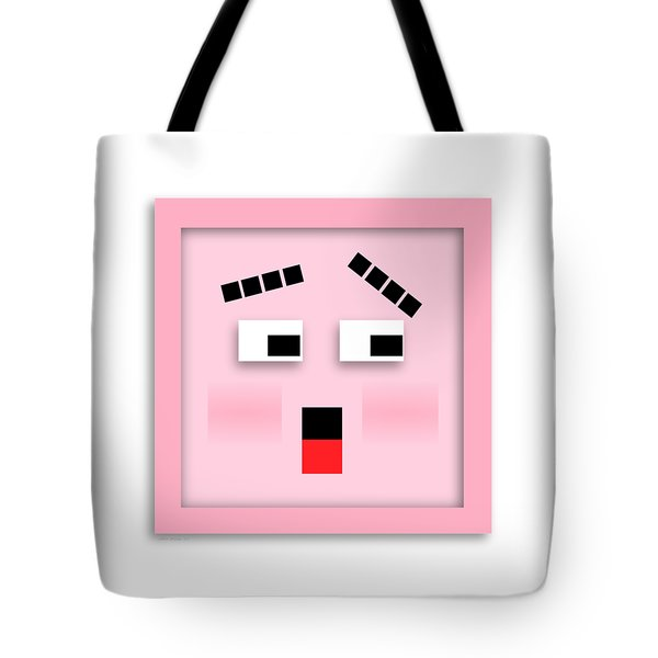 Tote Bag featuring the digital art Blockhead by John Wills