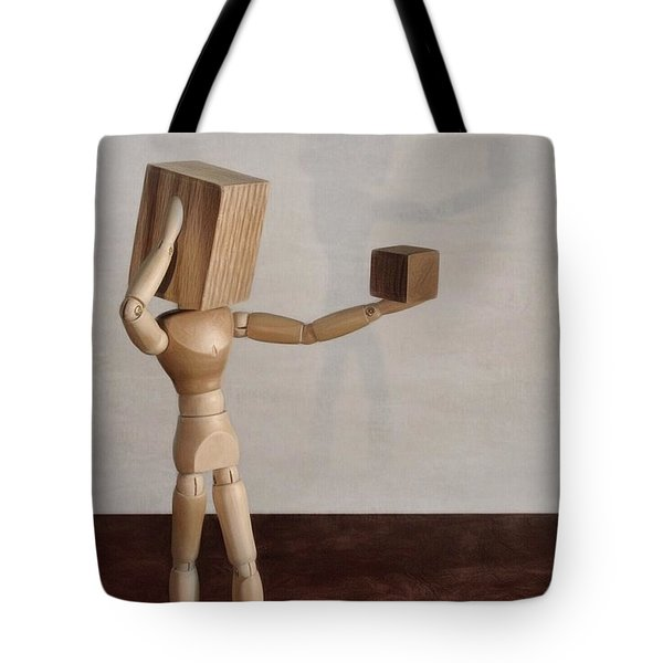 Tote Bag featuring the photograph Blockhead by Mark Fuller