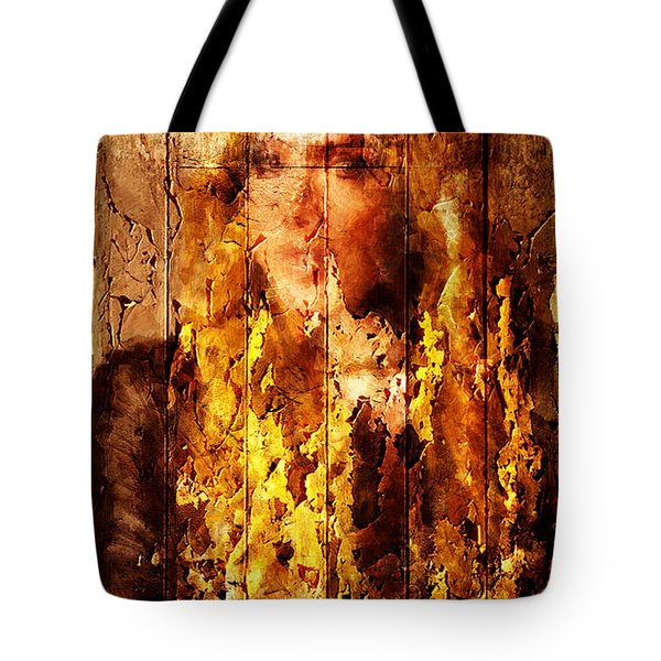 Blond Wood Inlay Tote Bag